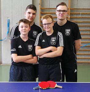 hinten: Erick Lorenz, Florian Plotek<br />vorne: Marcel Karst, Chris Andersen