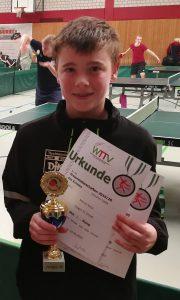 1. Platz im Einzel (Jungen 13)<br />Marcel Karst