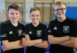 Jungen 15 - Kreisliga<br />v. l.: Marcel, Karst, Damian Weckwerth und Chris Andersen