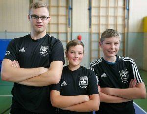 Jungen 18 - Kreisliga<br />v. l.: Kevin Jarosch, Robin Schulz und Christian König