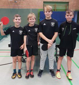 v. l.: Eymen Kara, Lukas Wagner, Fabrice Jankowski und Damian Weckwerth