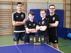 v. l.: Yusuf Celmen, Marcel Karst, Chris Andersen und Florian Plotek